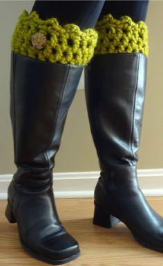 Fiber Flux...Adventures in Stitching: Free Crochet Pattern... Friendship Boot Cuffs!