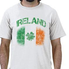 This cool distressed Irish Shirt from JerryLambert. Great St. Patrick's Day Tshirt.