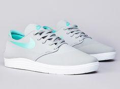 Nike SB Lunar One Shot: Base Grey/Crystal Mint. Summer shoes. -@Colleen Irvin Sandoval