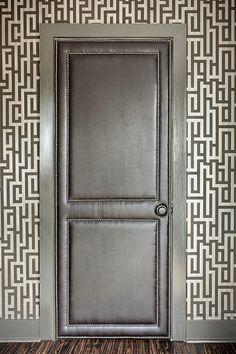 swoon...leather upholstered door