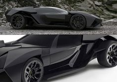 Lamborghini Ankonian (concept). Looks like someone let Lucius Fox into Lamborghini's design department.