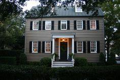 Colonial Entrance Home Design Ideas