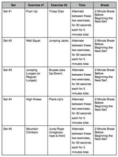 45 minute at home total body circuit workout