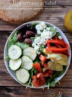 salad recipes, mediterranean salad