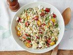 Giada DL's Orzo pesto salad with grilled corn & tomatoes.  Looks awesome, perfect for a picnic.  4/5 stars over 33 reviews.