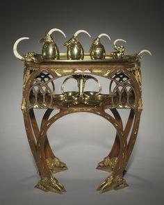 Bugatti Tea Service, c. 1907 executed by Carlo Bugatti (Italian, 1856-1940), Adrien-Aurélien Hebrard (French, 1866-1937) silver and ivory
