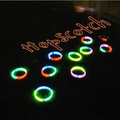 20 Cool Glow Stick Ideas | Glow Stick Hopscotch