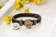Bullet Jewelry Leather Bullet Bracelet with by RicochetRounds, $24.95