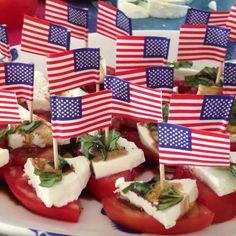 4th of july caprese salad!