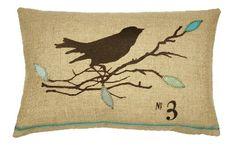 decor, bird screen, screens, lumbar pillow, throw pillow, birds, design, blue leav, pillows