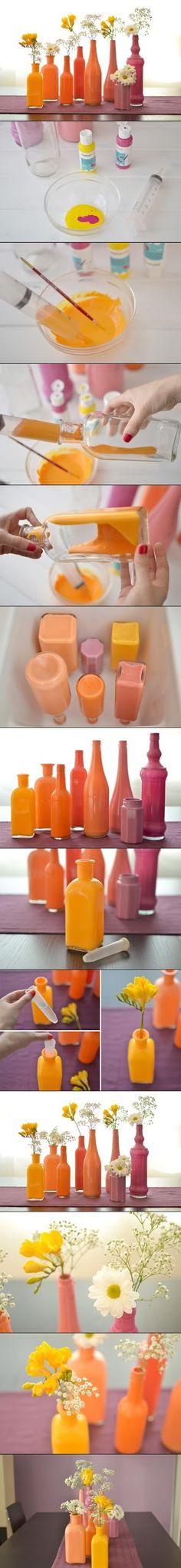 craft, centerpiec, color schemes, jar, glass