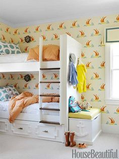 Playful Room - built in bunk beds.  Great for smaller spaces!