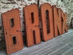 Original 'BRONX' sign with neons for sale in Felix lighting in Bath.