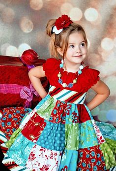 Patchwork dress! sewing-sewing-sewing