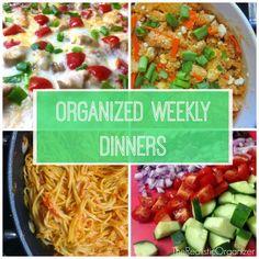 Organized Weekly Dinners