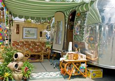 Airstream outdoor living by Steve Corey, via Flickr