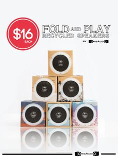 Fold N' Play Recycled Speakers #RealMomBTS