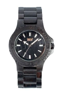 Wooden Watch - black