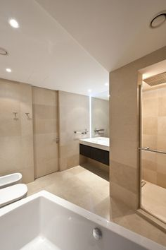 Apartment Design, New Bathroom Ideas As White Light As Glass Mirror Idea And White Bath Fodorova Modern Apartment 5: Amazing Modern Elegance...