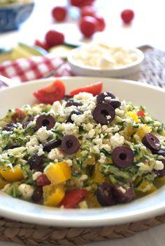 Zucchini Feta Cheese Chopped Salad Recipe on FamilyFreshCooking.com