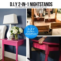 small tables, little bedroom, furniture makeover, guest bedrooms, color, repurposed furniture, small rooms, end tables, antiques