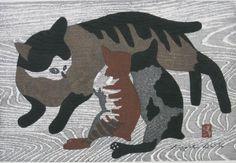 Cat and kittens   Kiyoshi Saito