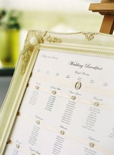Seating Chart #weddings