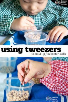 Fine motor skills with tweezers? Yes. You. Can. via Lessons Learnt Journal.