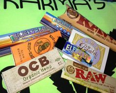 If you love to roll joints....we have just about every kind of paper you could ever want  Zig Zag Pure Bambu Elements Rice Paper - King Size, 1.25, & paper tips Raw - Organic Hemp and Cones   All ranging in price from $1.50 - $5