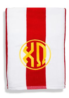 Stripe Chi Omega beach towel #Chi Omega