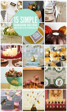 15 Thanksgiving table ideas! Easy centerpieces, place settings, and decor ideas.