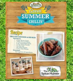 Grilled Chicken and Rib Rub for you! - Sprouts Farmers Market - sprouts.com #GreatGrillin