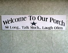 Porch sign house by kpdreams on Etsy, $18.00
