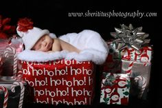 The Best Christmas Gift EVER Newborn Sparkly Hat with Sparkly Gift Bow Photo Prop Knit Hat. $18.00, via Etsy. I so want to do this.