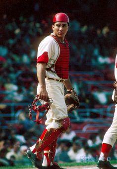 Cincinnati Reds catcher Johnny Bench during the 1968 season at Crosley Field.