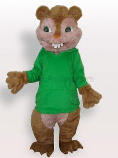 Green Squirrel Plush Adult Mascot Costume - all the mascot costumes are global free shipping at http://www.cosplayzentai.com