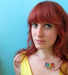 Caught On A Whim: Colored Pencil Necklace by Magical Daydream