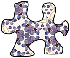 ArtbyJean - Purple Wood Roses: ---PUZZLE PIECES