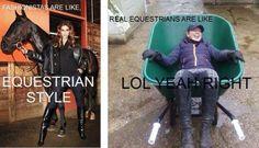 Real equestrians