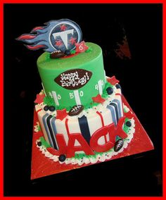 Tennessee Titans cake for Jack | Flickr - Photo Sharing!