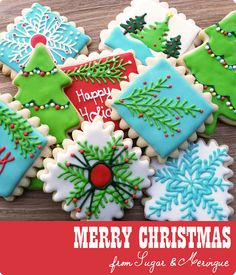 Merry Christmas Cookies by Sugar & Meringue / E-A-T, via Flickr