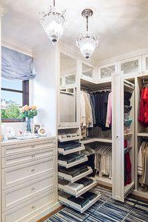 Love the scarf storage.  The Beach Closet - traditional - closet - los angeles - by Lisa Adams, LA Closet Design