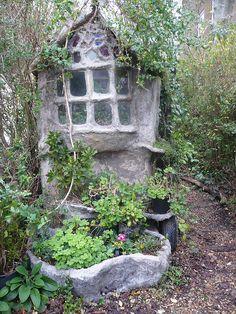 concrete fairy tale house