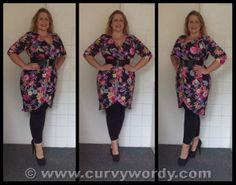 Pink Clove Tropical Print Wrap Dress size 16 http://www.curvywordy.com/2014/06/pink-clove-tropical-print-wrap-dress-16.html