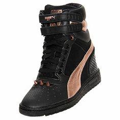 Women's Puma Sky Wedge RG Casual Shoes| FinishLine.com | Black