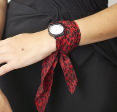 DIY scarf watch