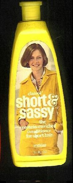 SHORT AND SASSY Shampoo! Who remembers the Dorothy Hamil cut and how big it was!! LOL