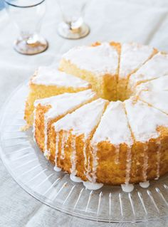 Recipe for Lemon Chiffon Cake. Perfect for Spring and Easter!