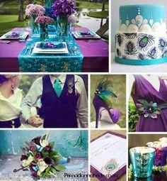 Peacock Themed Wedding.