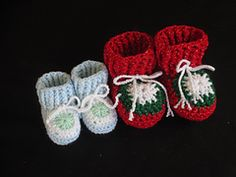 Ravelry: Granny's Love Baby Bootees pattern by Karen Gilson